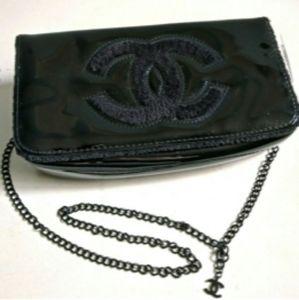 Chanel VIP Patent Shoulder Cross body Clutch Bag